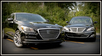 """Two Genny-rations""   Our 2015 Genesis HTRAC  AWD Ultimate and our 2010 4.6 Tech plus a couple of others."